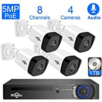 Hiseeu 5MP 8 Channel Home Wired Security System