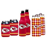 NFL Logo Brands Kansas City Chiefs Coozie Variety Pack, Team Color