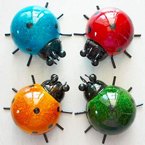 4 Cute Metal Ladybugs Garden Lawn Decorative Sculptures Now $7.99 (Was $15.98)