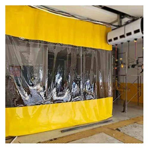 GFSD Lonas Transparentes Lona de PVC de 0.5mm, Periféricos de terraza Cortinas aislantes de Viento y Calor, Paneles Laterales de la Tienda, for Garaje, pérgola, Porche