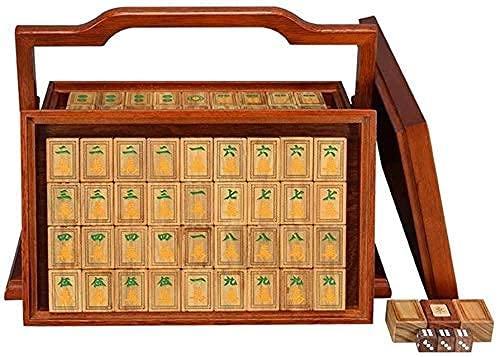 Mahjong Set Mahjong Tiles Fashion Mahjong Tiles, Frotamiento de Manos para el hogar Mahjong Tiles Family Game Mahjong Tiles Casual Game Tiles 144 Tarjetas, Bolsas de Tela (Color: Fuente Amarilla y ve