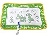 NEU Malmatte mit Wasserstift & Malvorlagen - Malen Schreiben Lernmatte Spielmatte für Baby & Kinder Buchstaben Zahlen Zeichnen Malkoffer Wassermatte