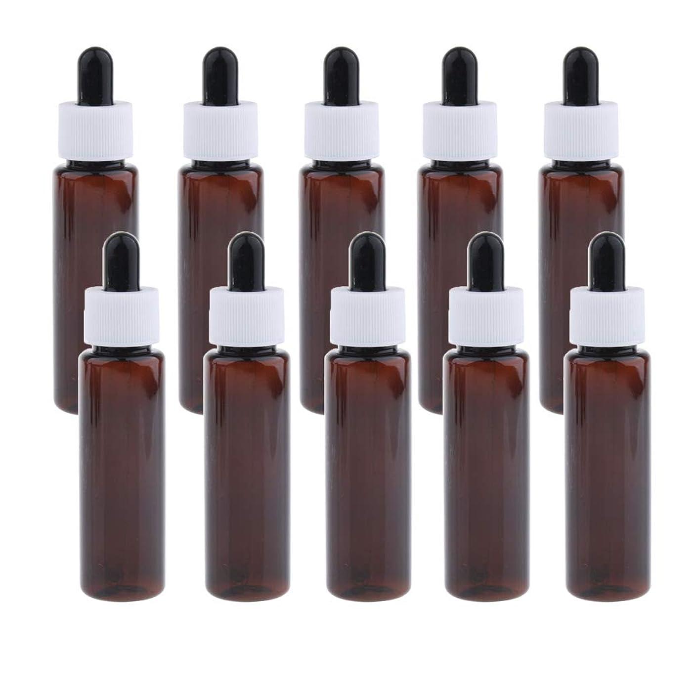 殺す修理工全体sharprepublic 30ml スポイトボトル 香水瓶 詰替え容器 エッセンシャルオイル 全4色 約10個セット - アンバー