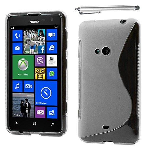 ebestStar - Coque Compatible avec Nokia Lumia 625 Etui Housse Silicone Gel TPU Souple Motif S-Line + Stylet, Transparent [Appareil: 133.3 x 72.3 x 9.2mm, 4.7'']