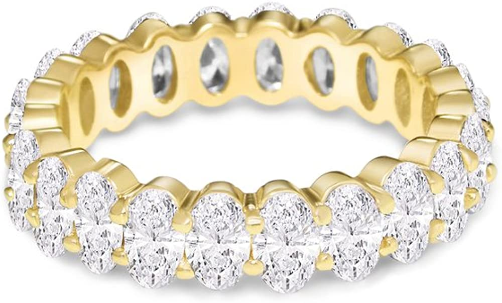 NYC Max 50% OFF Sterling Women's .925 67% OFF of fixed price Silver Cubic Zirconia 5x3mm Oval-Cut E
