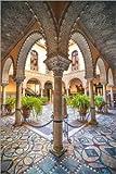 Poster 40 x 60 cm: Orientalischer Innenhof in Sevilla von