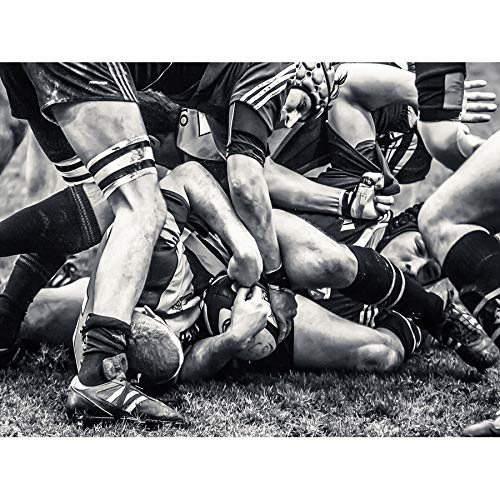 Wee Blue Coo Sport Rugby Football Close Up Scrum Players Ball Game Large Art Print Poster Wall Decor 18x24 inch