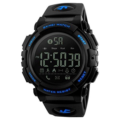Fuibo Smartwatch, 1303 wasserdichte BT4.0 Sport Smart Watch Telefon Kamerad Android IOS Armbanduhr Sport Fitness Tracker Armband (Blau)