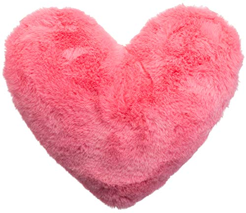 Brandsseller - Cojín con forma de corazón (aprox. 40 x 30 cm), rosa, ca. 40x30 cm