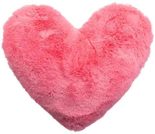 Brandsseller Herzkissen Kuschelkissen Schmusekissen Flausch Plüsch Dekokissen ca.40x30 cm Pink