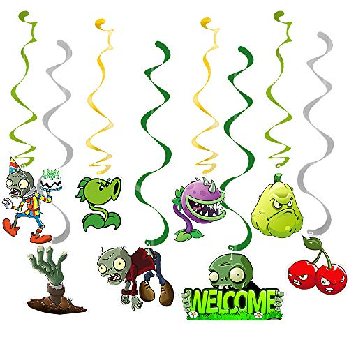 Col-party Plants VS Zombies Hanging Swirls with 8 Different PVZ Patterns for Plant VS Zombies...
