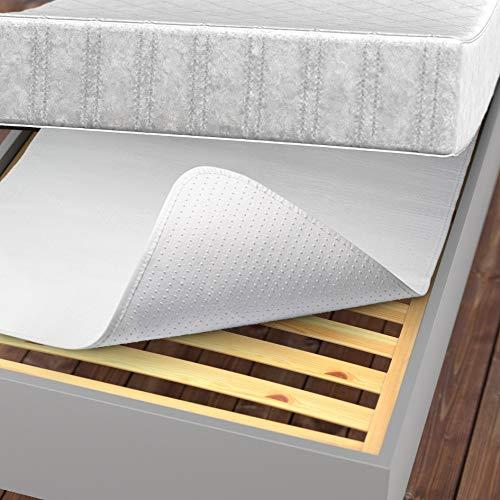 LILENO HOME Matratzenunterlage 90x200 cm - Lattenrost Matratzenschoner mit Noppen - Noppen Antirutschmatte für Matratze und Boxspringbett - Antirutsch Lattenrostschoner durch Matratzen Unterleger