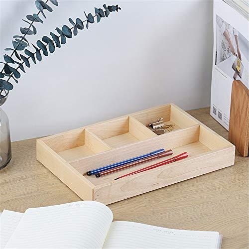 Estante de Almacenamiento de Oficina Escritorio de madera de alimentación Organizador 4 compartimentos de almacenamiento de escritorio Caja Organizador de cajones Nightstand Servicio de bandejas para