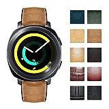 Cinturini di ricambio compatibili con Samsung Galaxy Watch 42mm/46mm,Active 2,Samsung Gear S3 Classic/Frontier Smartwatch Cinturini per orologi ibridi in silicone flessibile in pelle (20mm/22mm)