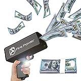 UNKENBO Money Gun Shooter – Prop Guns for Movies That Look Real , Money Gun Make it Rain with Play Money 100 Dollar Bills ( Black )