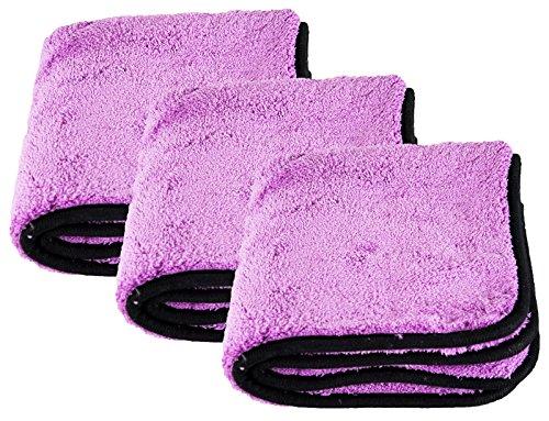 Liquid Elements 3x Purple Monster Mikrofasertuch Microfaser 1800 GSM 40 x 40 cm