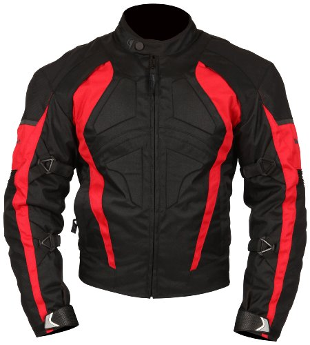 Milano Sport Gamma Motorcycle Jacket with Red Accent (Black,...
