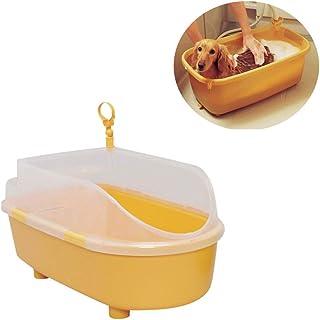 ペット用浴槽折りたたみ式持ち運びが容易な浴槽底出口テディプールグリーン素材底滑り止めすべてのペットが使えるスパバス浴槽猫風呂用品,Orange,M