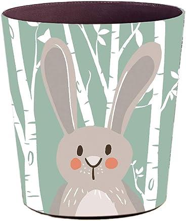 Lelestar Papeleras Infantiles 10L Encantador Animal Cuero Papelera,Oficina Cubo de Basura Ni/ños Habitacion Papelera,25/×20/×27CM