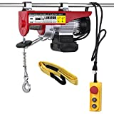 LIMICAR Electric Hoist 880LBS Overhead Lift Electric Hoist Crane Garage Ceiling Pulley Winch Remote Control Power System with Premium Straps 6.6'x3' Lift Sling