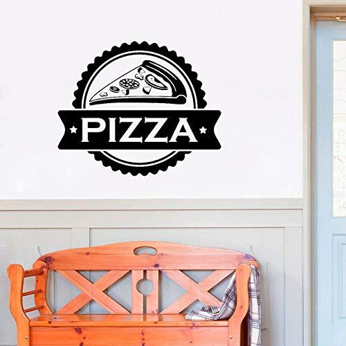 SUPWALS Pizza Store Logo Pegatinas de Pared Comida rápida pizzería Vinilo Arte Ventana Pared calcomanías decoración del hogar Cocina Restaurante murales