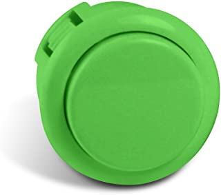 Sanwa Silent 30mm Replacement Arcade Push Button for Mad Catz Fight Sticks - Silent Green 1pc