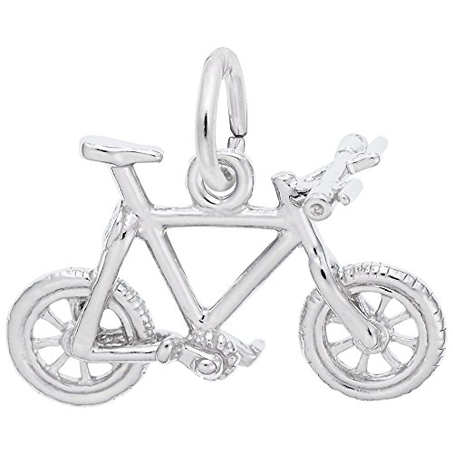 Rembrandt Charms 925 Sterling Silver Mountain Bike Charm Pendant