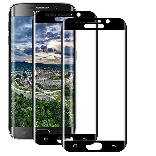 BOBI Vetro Temperato per Samsung Galaxy S6 Edge Pellicola Protettiva, [2 Pezzi] Protezione Schermo HD Trasparente, Ultra Resistente, 9H Durezza, Anti-Graffi, Senza Bolle