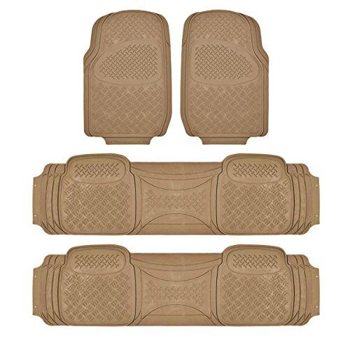 BDK Heavy Duty VAN SUV Rubber Floor Mats - 4 covid 19 (4 Piece Carpet Mat coronavirus)