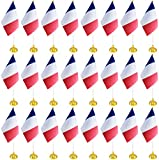 BCLin 24 Pack France Desk Flag...