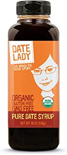 Award Winning Organic Date Syrup 18 Ounce BPA -Free Squeeze Bottle | Vegan, Paleo, Gluten-free & Kosher. No colors or preservatives