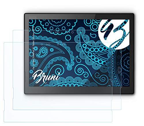 Bruni Schutzfolie kompatibel mit Lenovo ThinkPad X1 Tablet 3rd Gen. 2018 Folie, glasklare Bildschirmschutzfolie (2X)