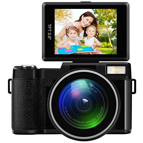 muxiao Video Digital Videocámara f = 2,43,0Pulgadas LCD Pantalla Cámara Digital fotografía Premium 1080p Flip