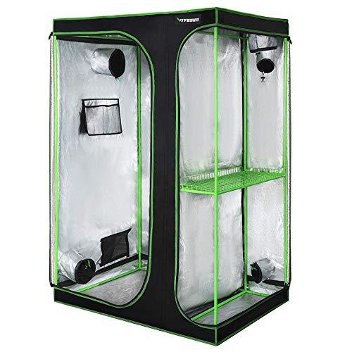 "VIVOSUN 2-in-1 48""x36""x72"" Mylar Reflective Grow Tent for Indoor..."
