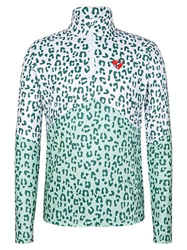 Ziener Mädchen JILAS Junior Skipullover, Skirolli, Funktions-Shirt | Langarm, Atmungsaktiv, Fresh Mint Leo, 140
