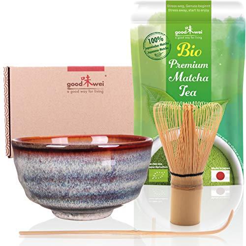 Goodwei Matcha Tee Starter-Set mit japanischem Bio Matcha (Uji)