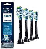 Philips HX9044/33 Pack 4 cabezales Sonicare Premium Plaque Control Negro con tecnología RFID y BrushSync mode