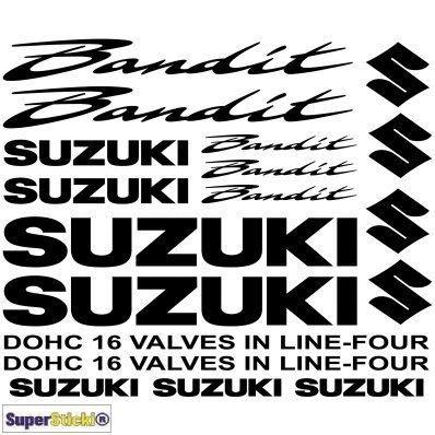 SUPERSTICKI Suzuki Bandit Aufkleber A1 Sponsorset 4689 ca. 30x20cm Aufkleber Bike Auto Racing Tuning aus Hochleistungsfolie Aufkleber Autoaufkleber Tuningaufkleber Hochleistungsfolie für a