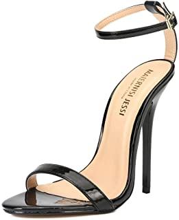MAIERNISI JESSI Unisex Men's Women's Ankle Strap Stiletto High Heel Dress Sandals