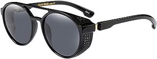 BOZEVON - Al aire libre Unisex para Mujer y Hombre UV400 Protección Vintage Retro Gafas de sol Redondas