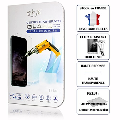 Lenovo K8Note High Transparency Tempered Glass Screen Protector, Anti-Fingerprint, Heavy Duty (9H Hardness, Ultra Slim Easy To Put On and Protection by PH26
