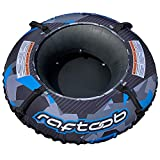 Raftoob River Tube | Heavy Duty Water Tube and Cover for Kids and Adults - Electric Blue and Black Premium Lounge Tube - 44 inches inflated and Packed with Value Added Accessories