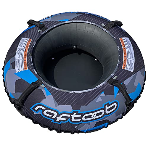 Raftoob River Tube | Heavy Duty Water Tube and Cover for Kids and Adults - Electric Blue and Black Premium Lounge Tube -...