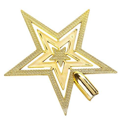 Coaster estrella de árbol de Navidad, estrella brillante, helada, punta de árbol de Navidad, decoración para...