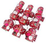 christmasshop Paquet de 6 - Fun Family Petite fête de Noël Crackers Face Xmas Photo Props