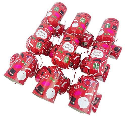 christmasshop Pacchetto di 6 - Famiglia Divertente Piccola Cracker di Natale Partito Face Props Foto di Natale