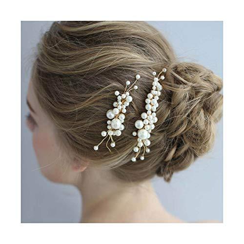 IYOU Peinetas para el cabello de boda para novia tocado de peine...