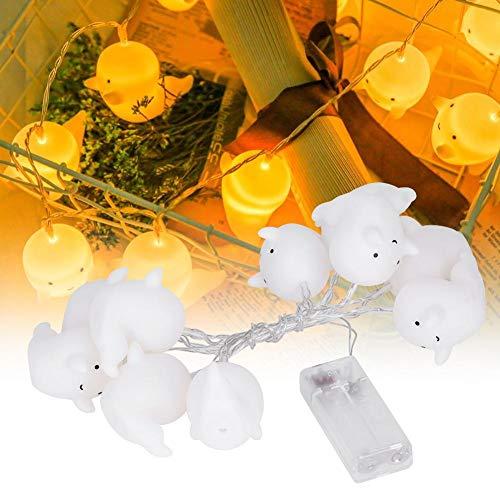 AMONIDA Decoración de Luces, Luces de Cadena LED Impermeables con Pilas, para césped, Fiesta, Boda, jardín(Warm White)