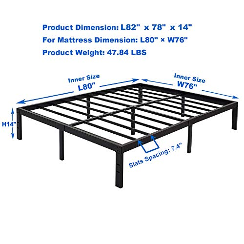 Zizin King Bed Frame
