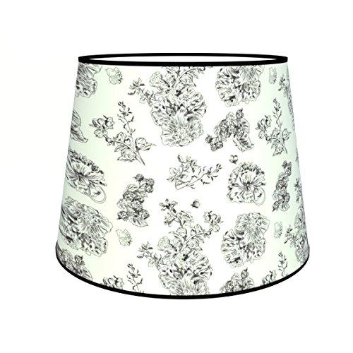 Abat-jours 7111301898074 Conique Imprimé Louis Lampe de Chevet, Tissus/PVC, Multicolore